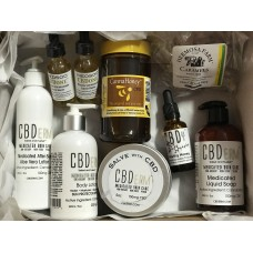 CBD Power Box with CBDerm, CBDY, CannaHoney products